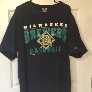 Vintage 90's Milwaukee brewers mlb t-shirt